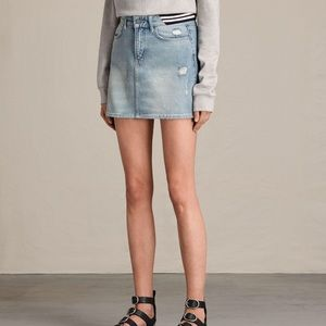 AllSaints Rib Denim Skirt